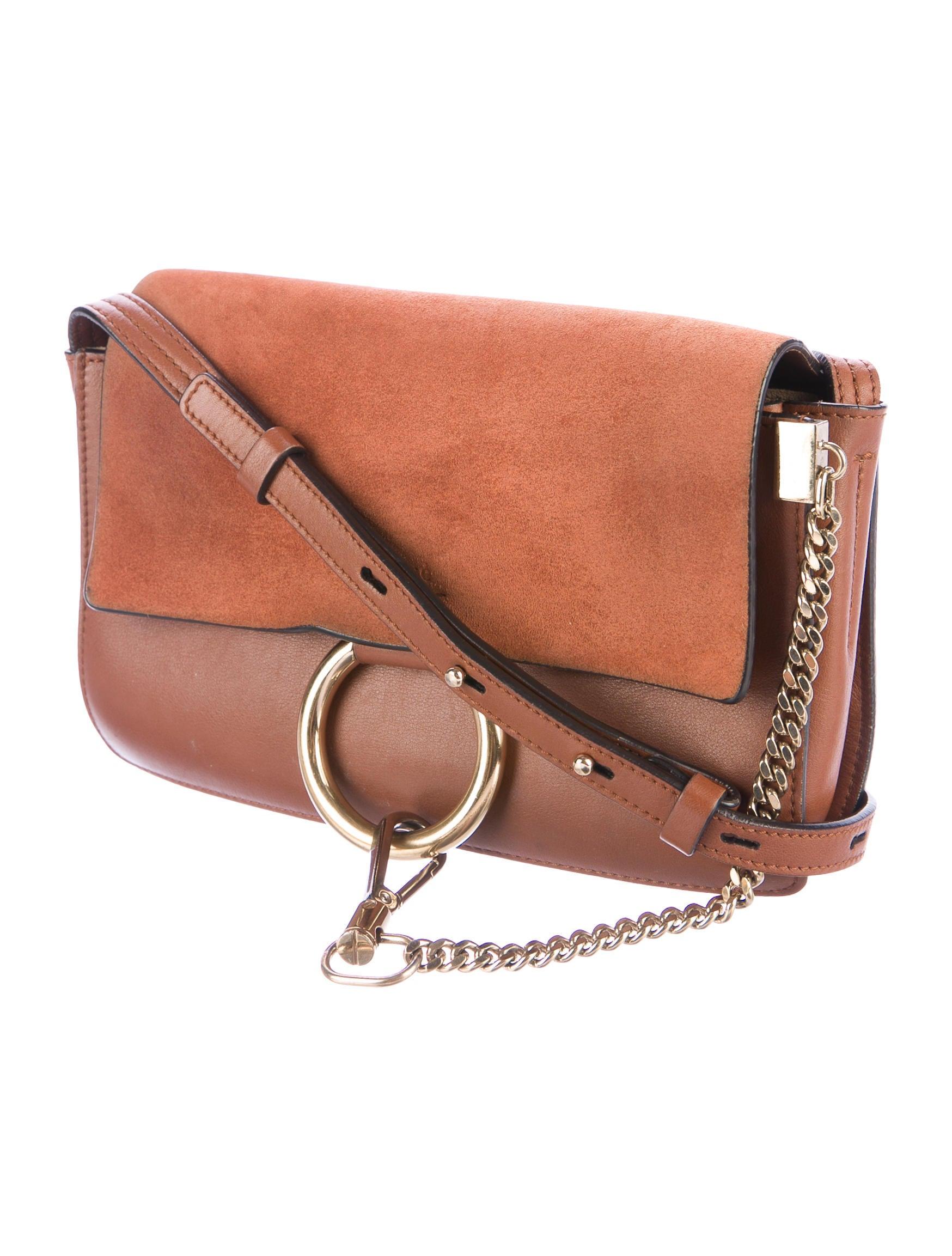 chlo faye small shoulder bag handbags chl61610 the realreal. Black Bedroom Furniture Sets. Home Design Ideas
