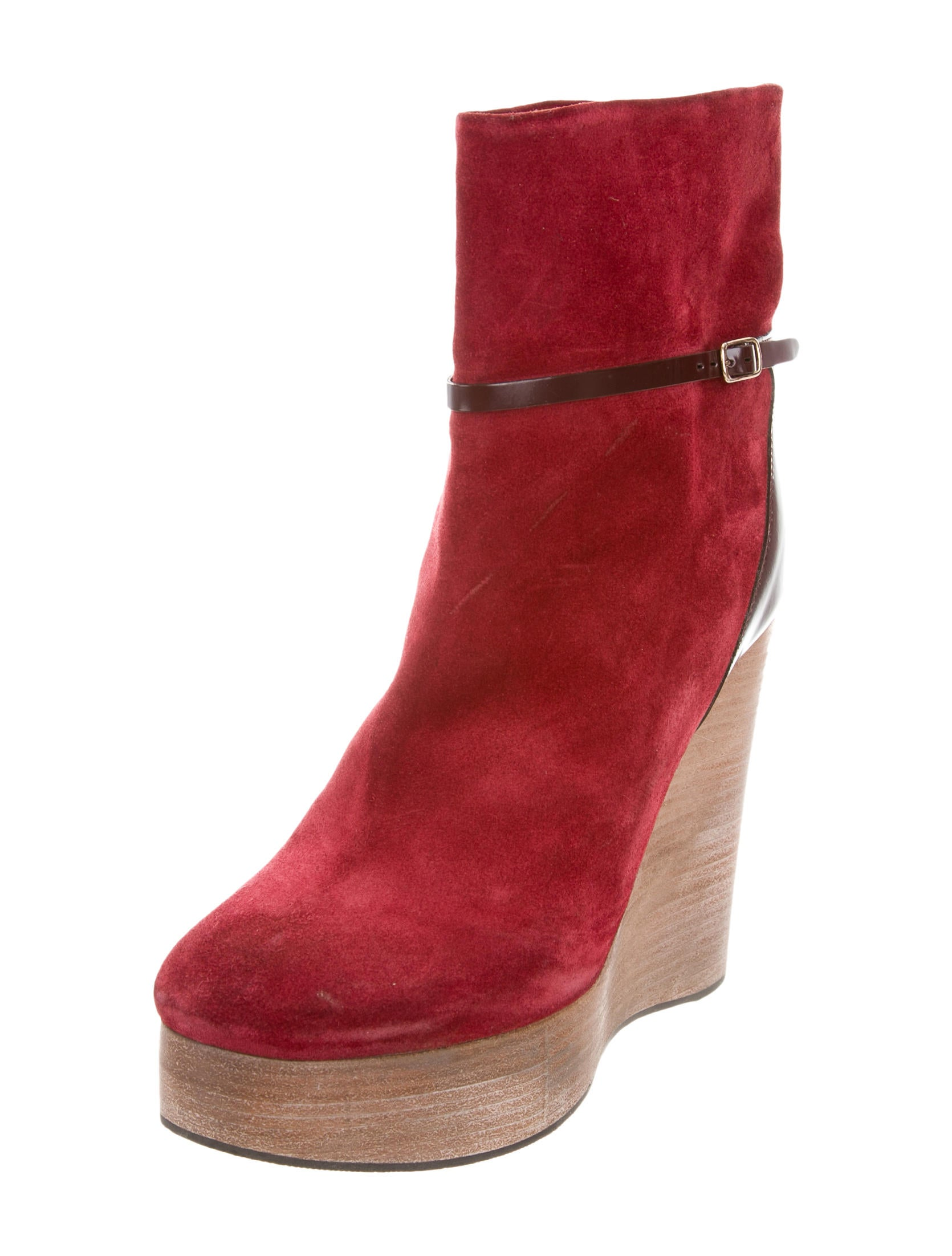 chlo 233 platform wedge ankle boots shoes chl61713 the