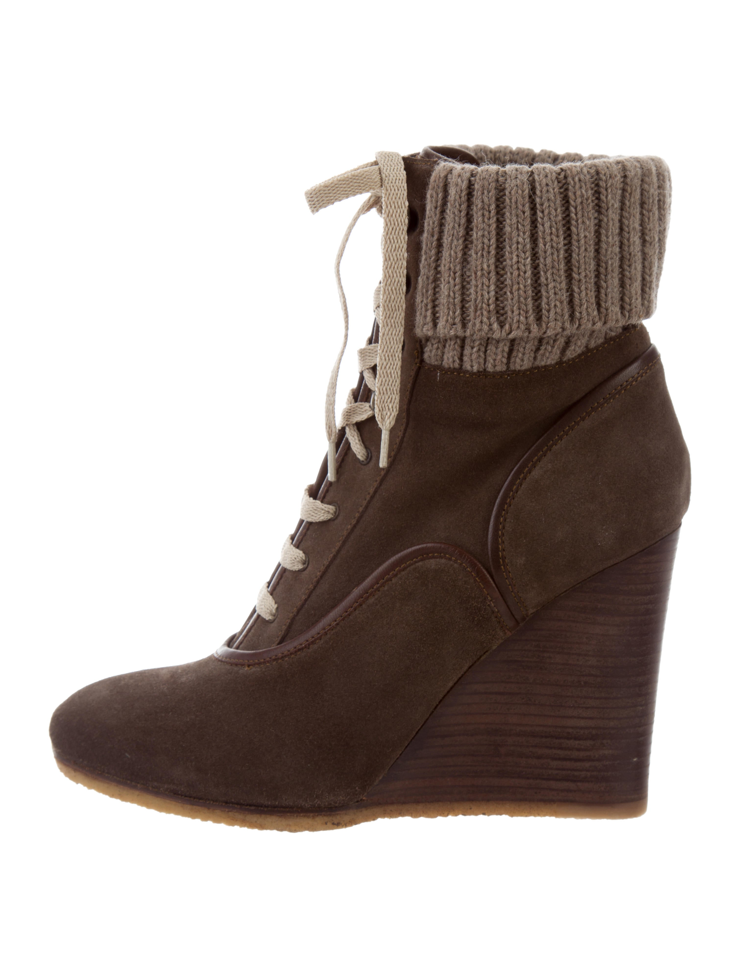 chlo 233 wedge ankle boots shoes chl61891 the realreal