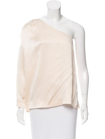 Chloé Silk One-Shoulder Top None