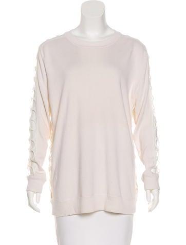 Chloé Cashmere & Silk-Blend Sweater None