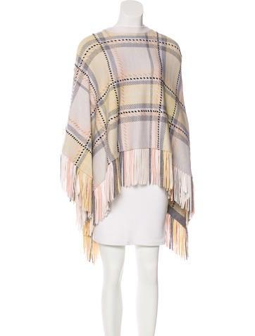 Chloé Wool & Cashmere Knit Poncho None