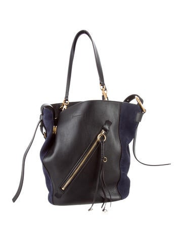 Chloé Medium Myer Leather & Suede Tote None