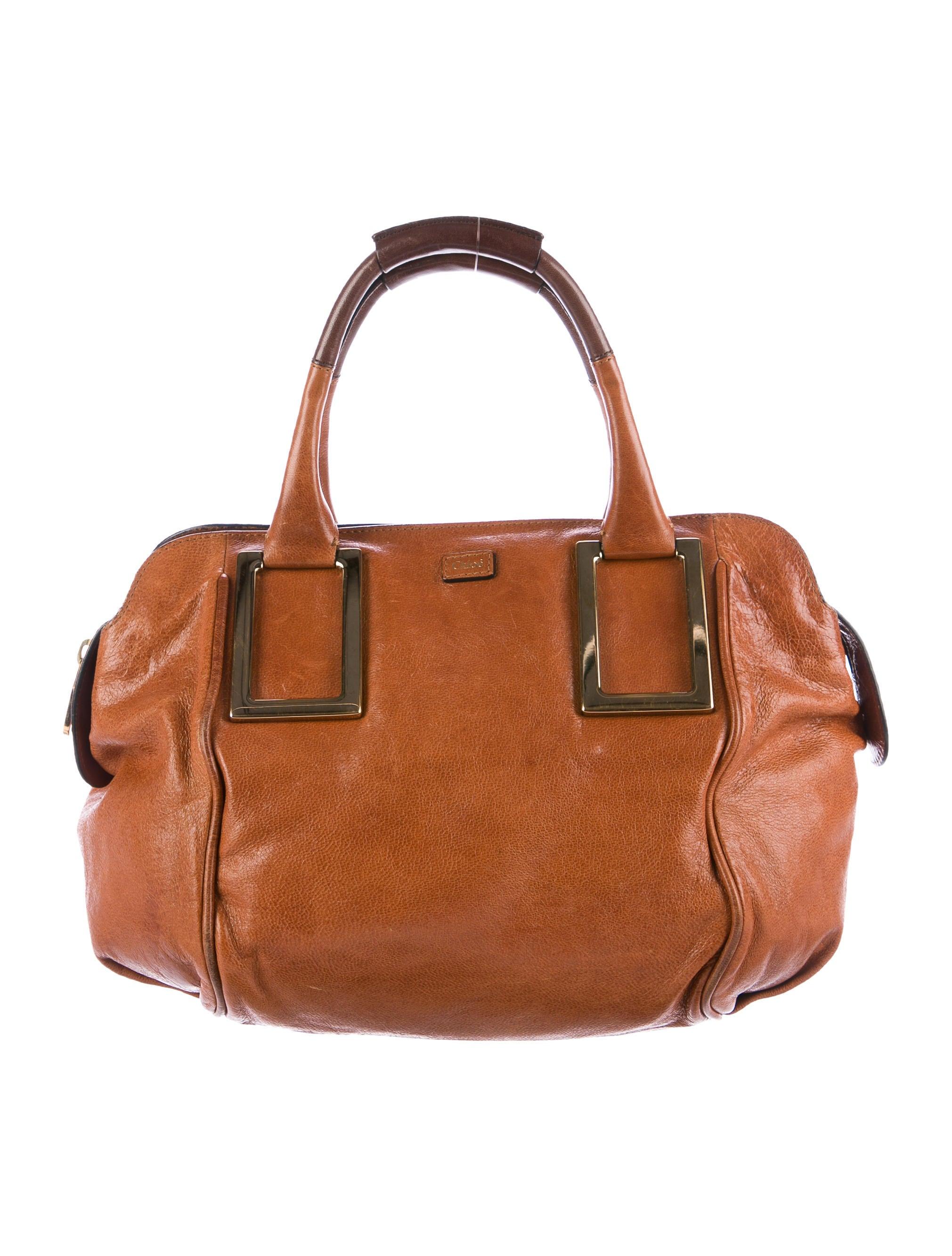Chloé Leather Ethel Satchel - Handbags - CHL63180  f8ac4d056