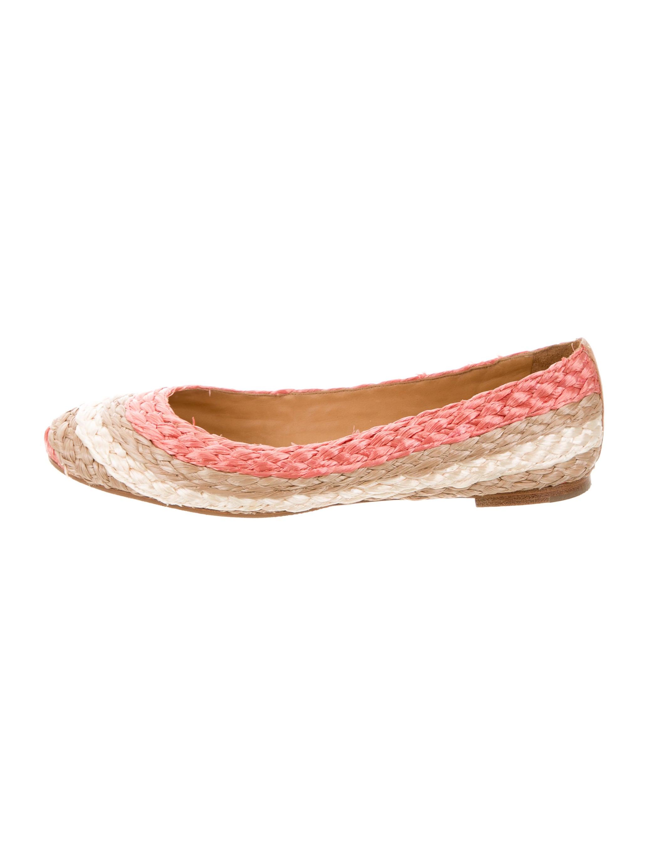 Chloé Raffia Round-Toe Flats best seller sizdHP