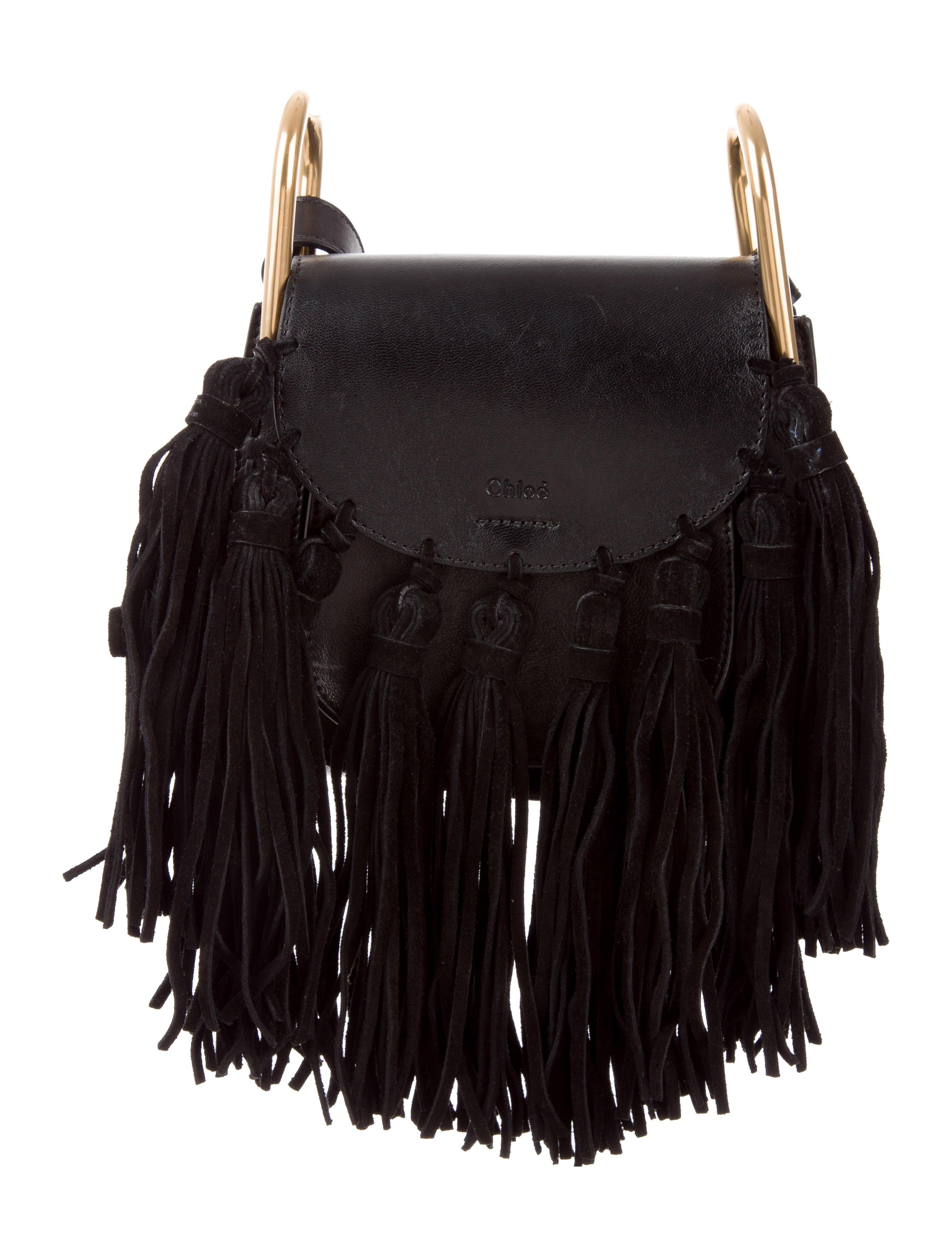 chlo 233 mini fringed hudson crossbody bag handbags