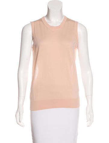 Chloé Sleeveless Sheer-Accented Top w/ Tags None