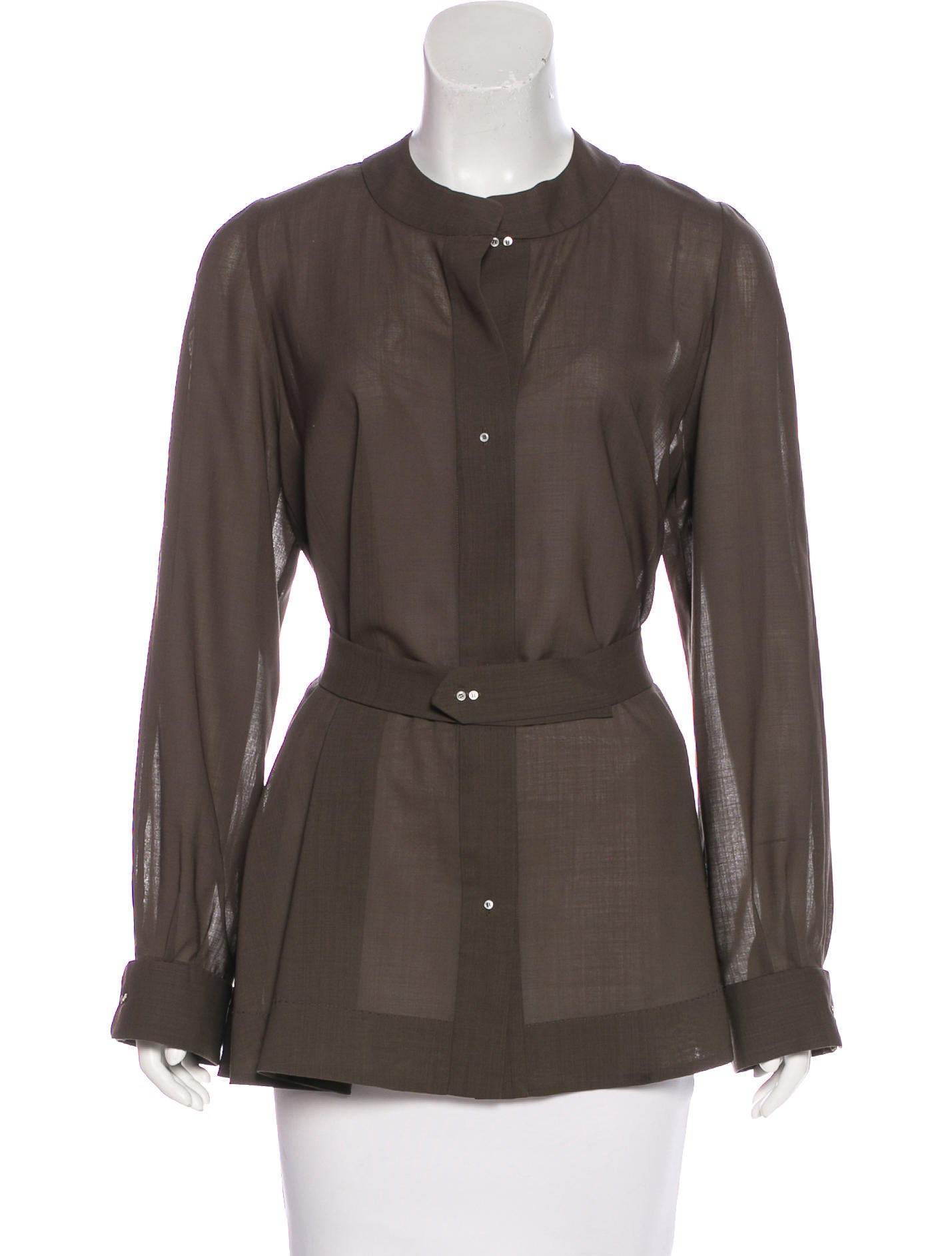 Chlo wool long sleeve top clothing chl64655 the for Best wool shirt jackets