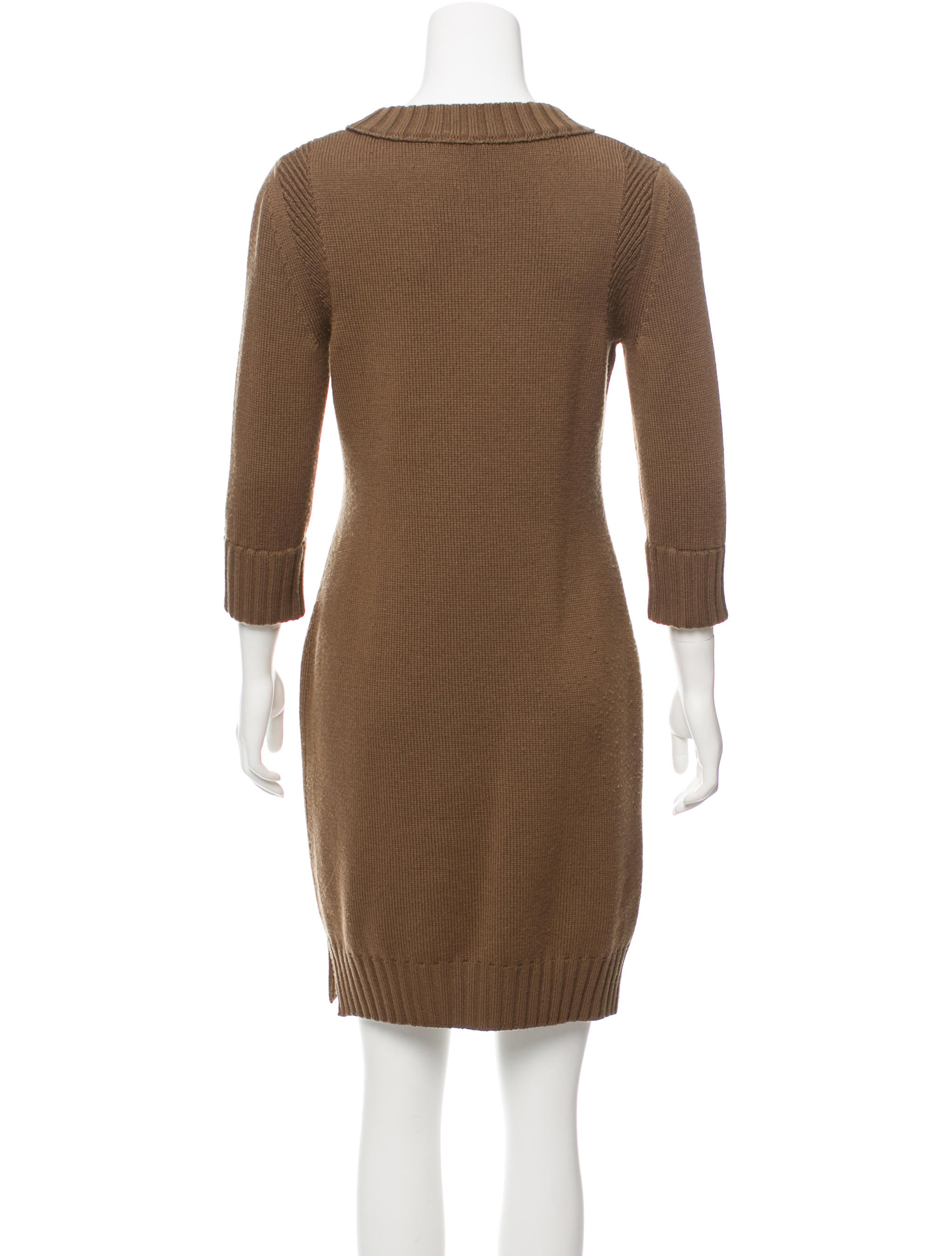 Chlou00e9 Wool Sweater Dress - Clothing - CHL64904 | The RealReal