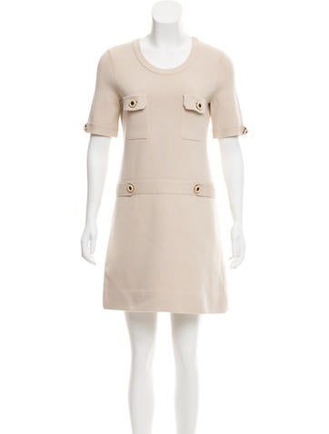 Chloé Silk-Blend Sweater Dress None
