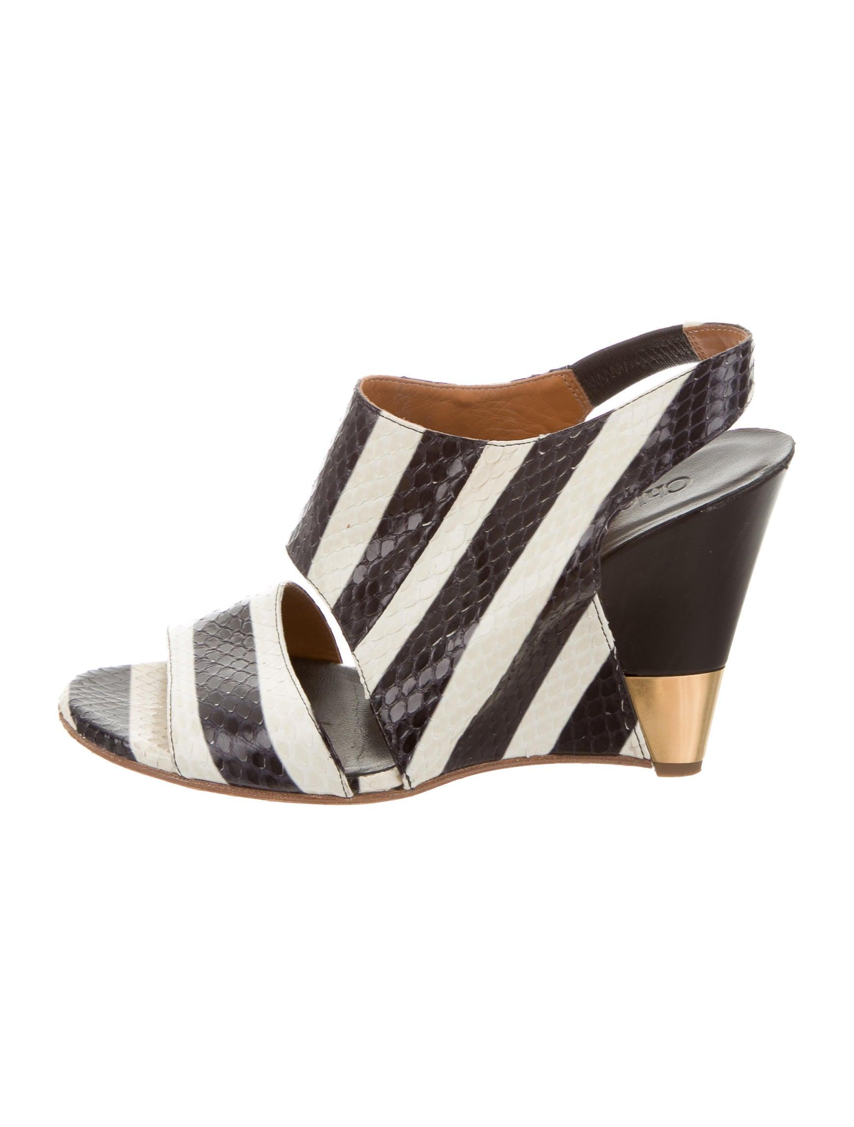 Chloé Python Slingback Sandals free shipping in China buy cheap sale QT0nZe