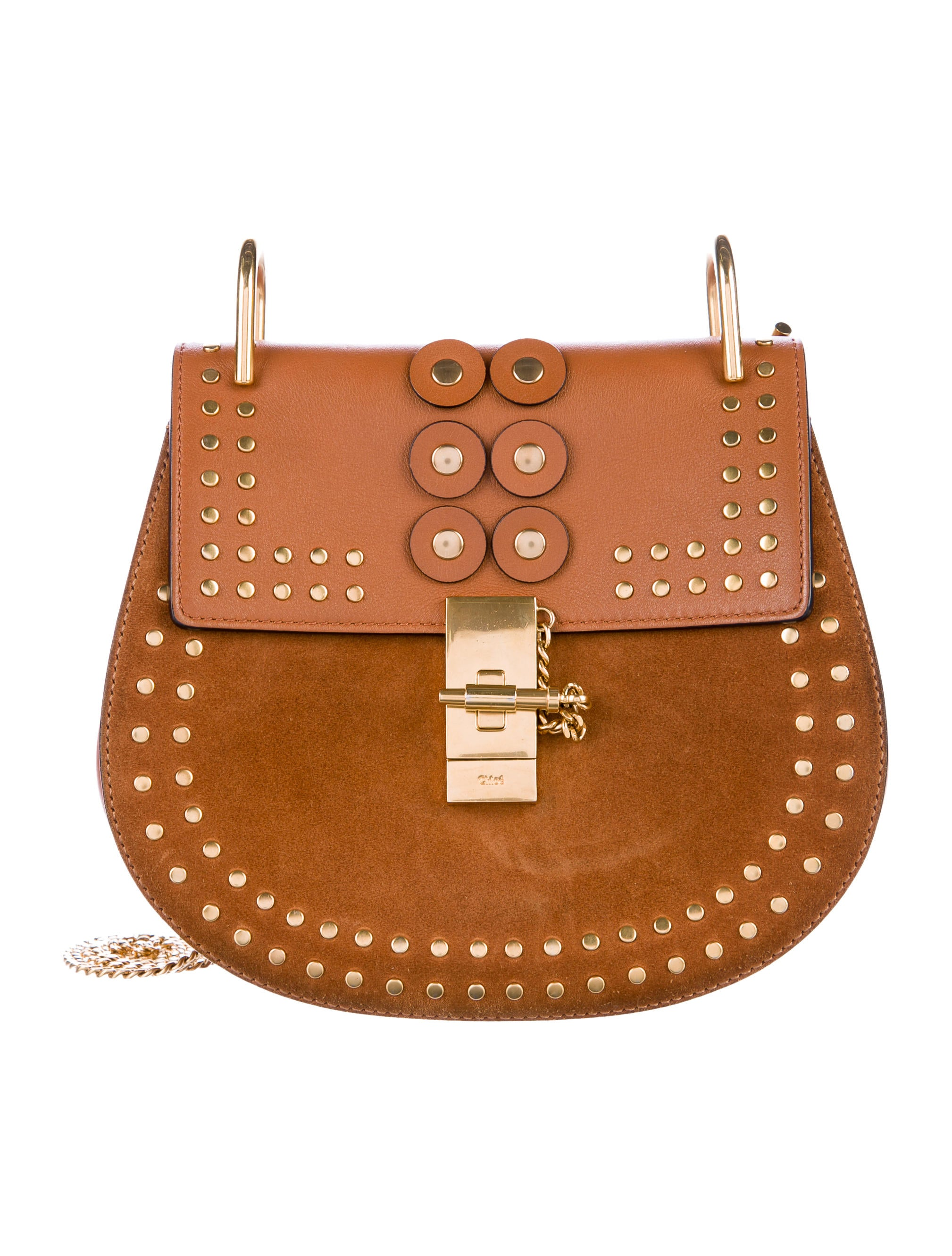922061776d55 Chloé Drew Studded Bag - Handbags - CHL65721