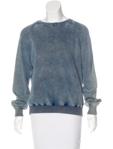 Chloé Long Sleeve Rib Knit Sweater None