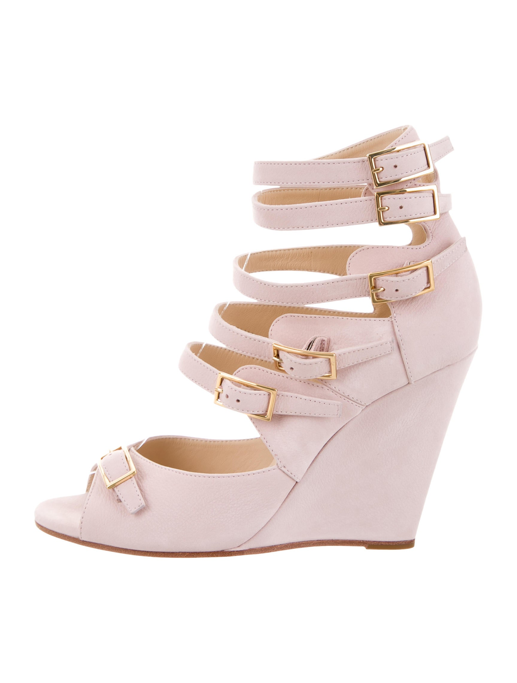 Chloé Multistrap Wedge Pumps w/ Tags