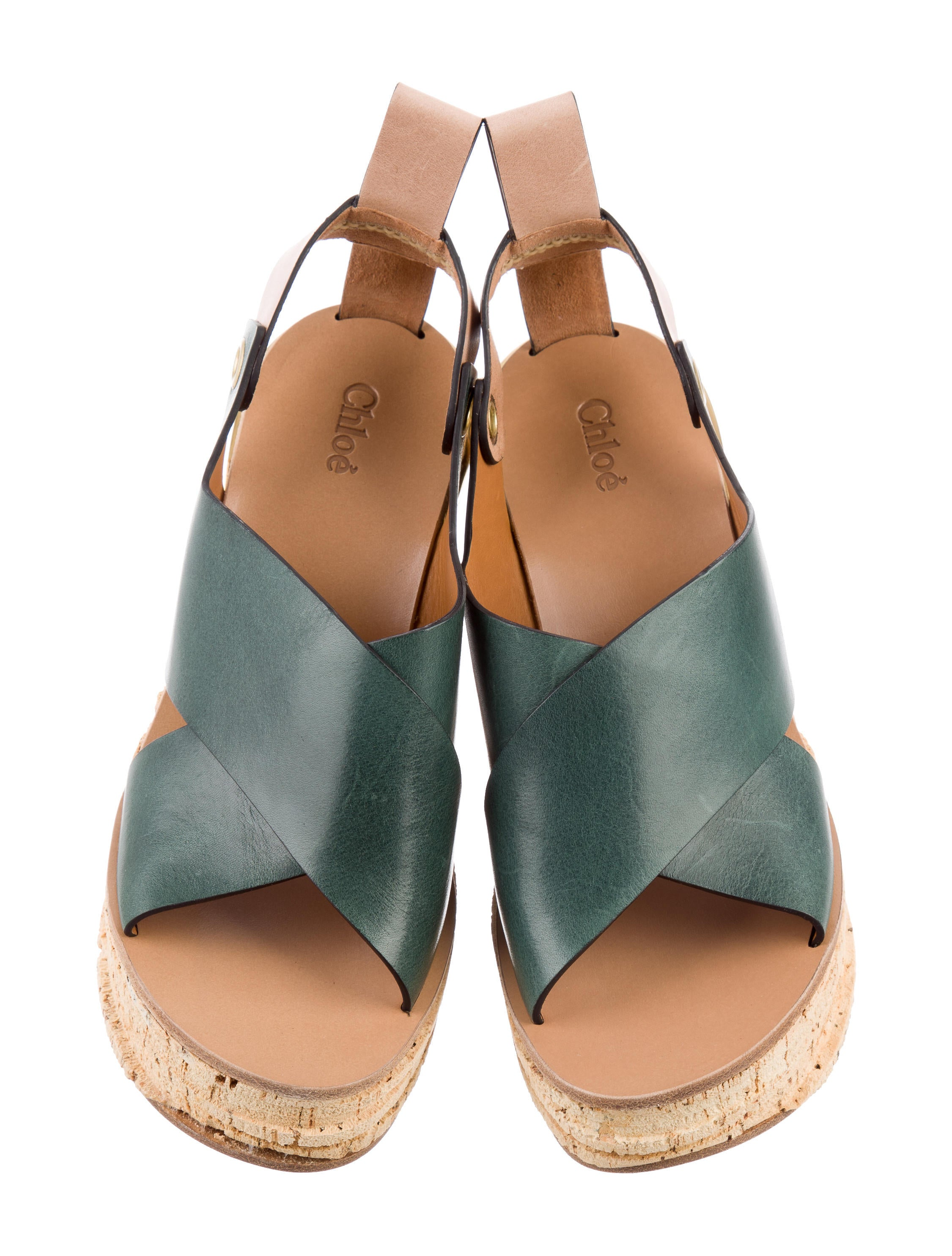 Chloé Carve Leather Cork Wedges w/ Tags discount Manchester footaction cheap online buy cheap cheap clearance Inexpensive free shipping factory outlet usa8Ks