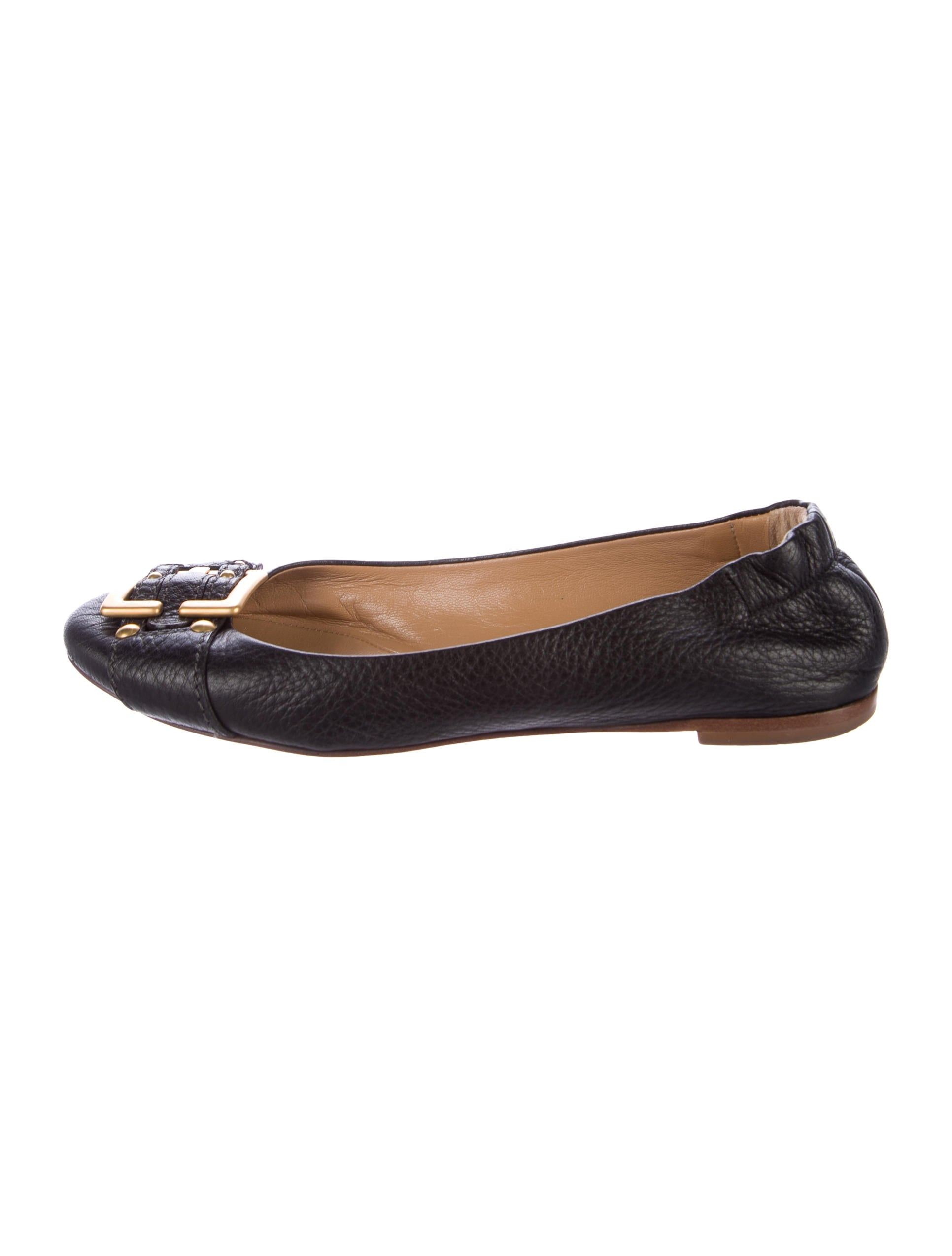 discount with mastercard Chloé Leather Rounded-Toe Flats outlet finishline outlet 2015 new outlet browse discount outlet store TOiYXTD