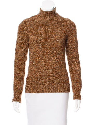 Chloé Rib Knit Mock Neck Sweater None
