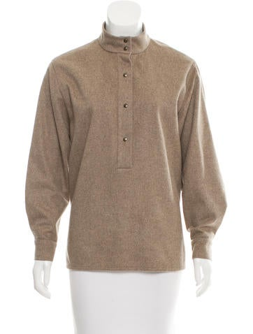 Chloé Wool Button-Up Top None