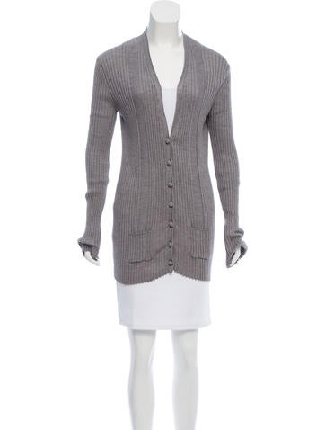 Chloé Ribbed Wool Cardigan None