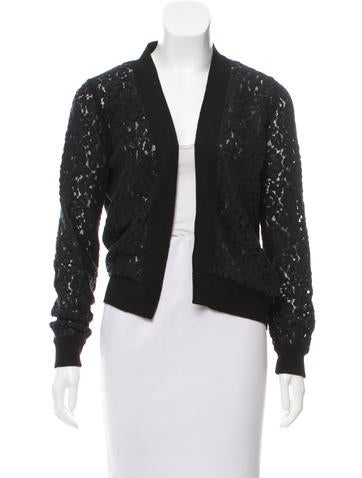 Chloé Knit Lace-Accented Cardigan None