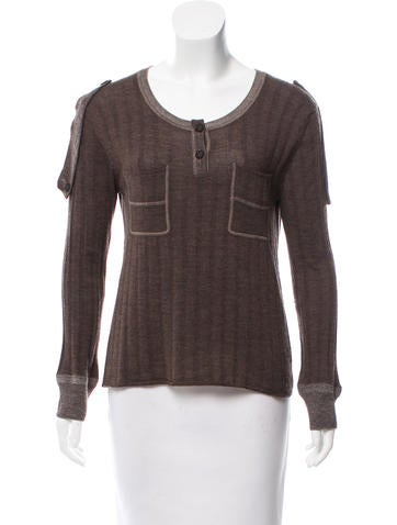 Chloé Ribbed Wool Sweater None