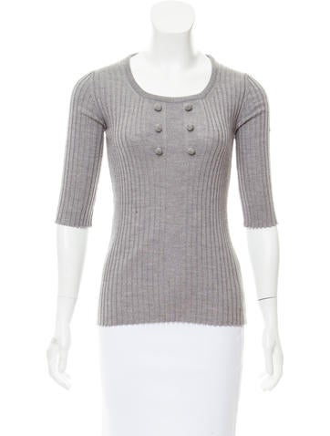 Chloé Rib Knit Wool Top None
