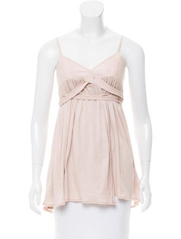 Chloé Tie Front Sleeveless Top None