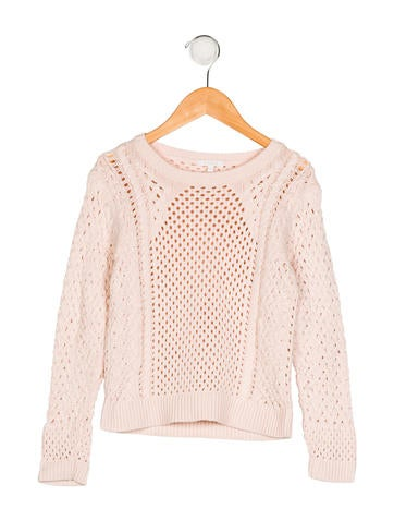 Chloé Girls' Open Knit Pullover Sweater None