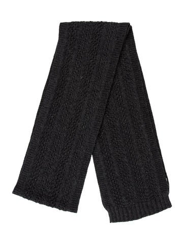 Chloé Charcoal Knit Scarf None