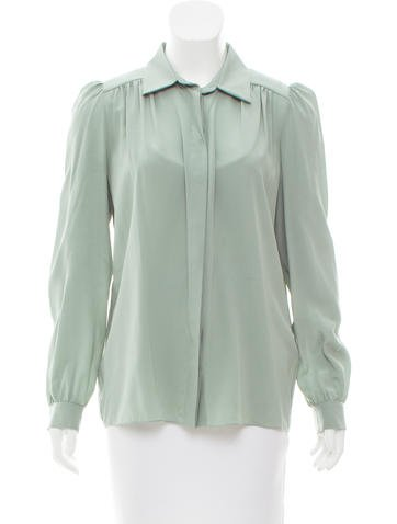 Chloé Silk Button-Up Top None