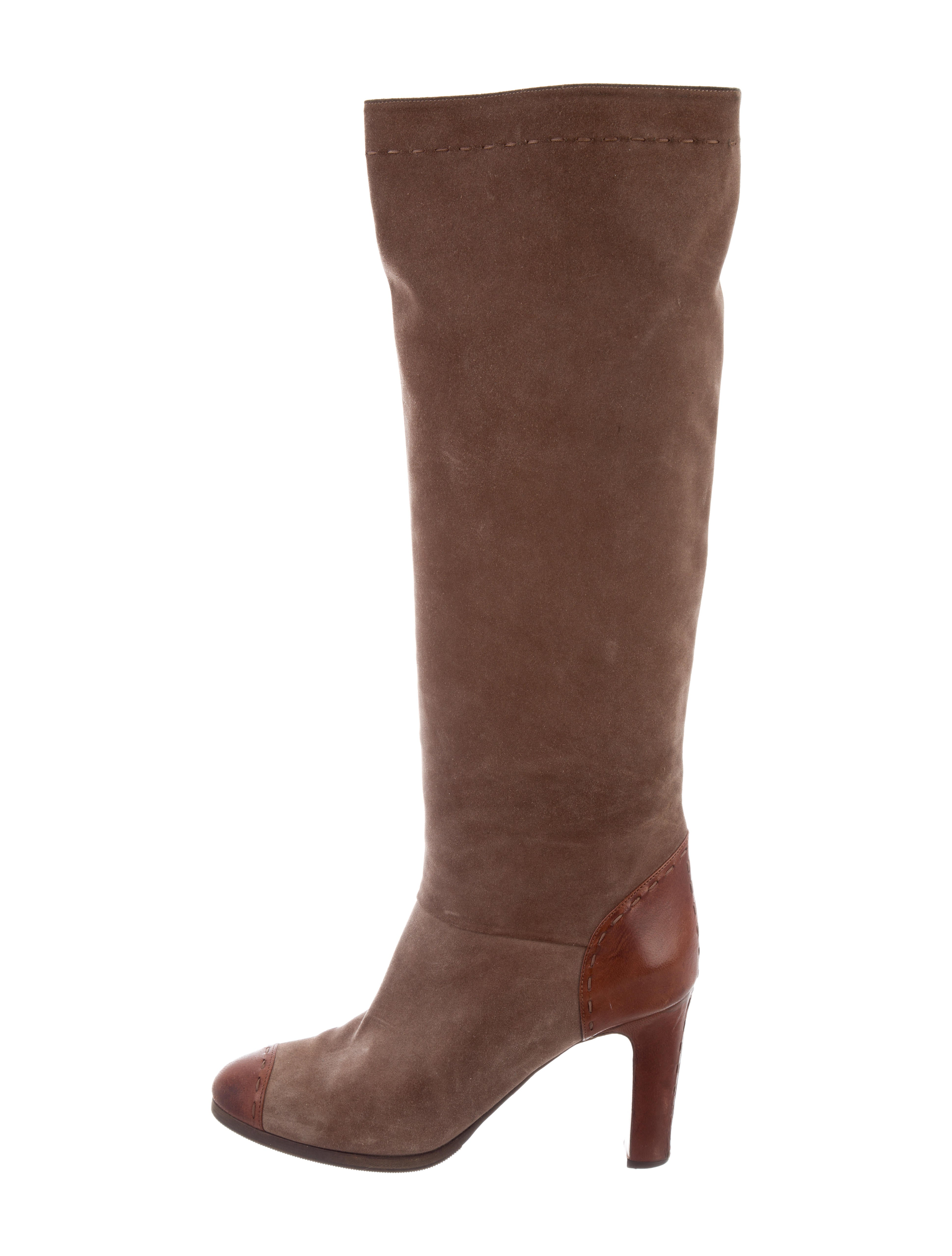 cheap sale tumblr Chloé Cap-Toe Knee-High Boots discount low cost clearance clearance KYjnC