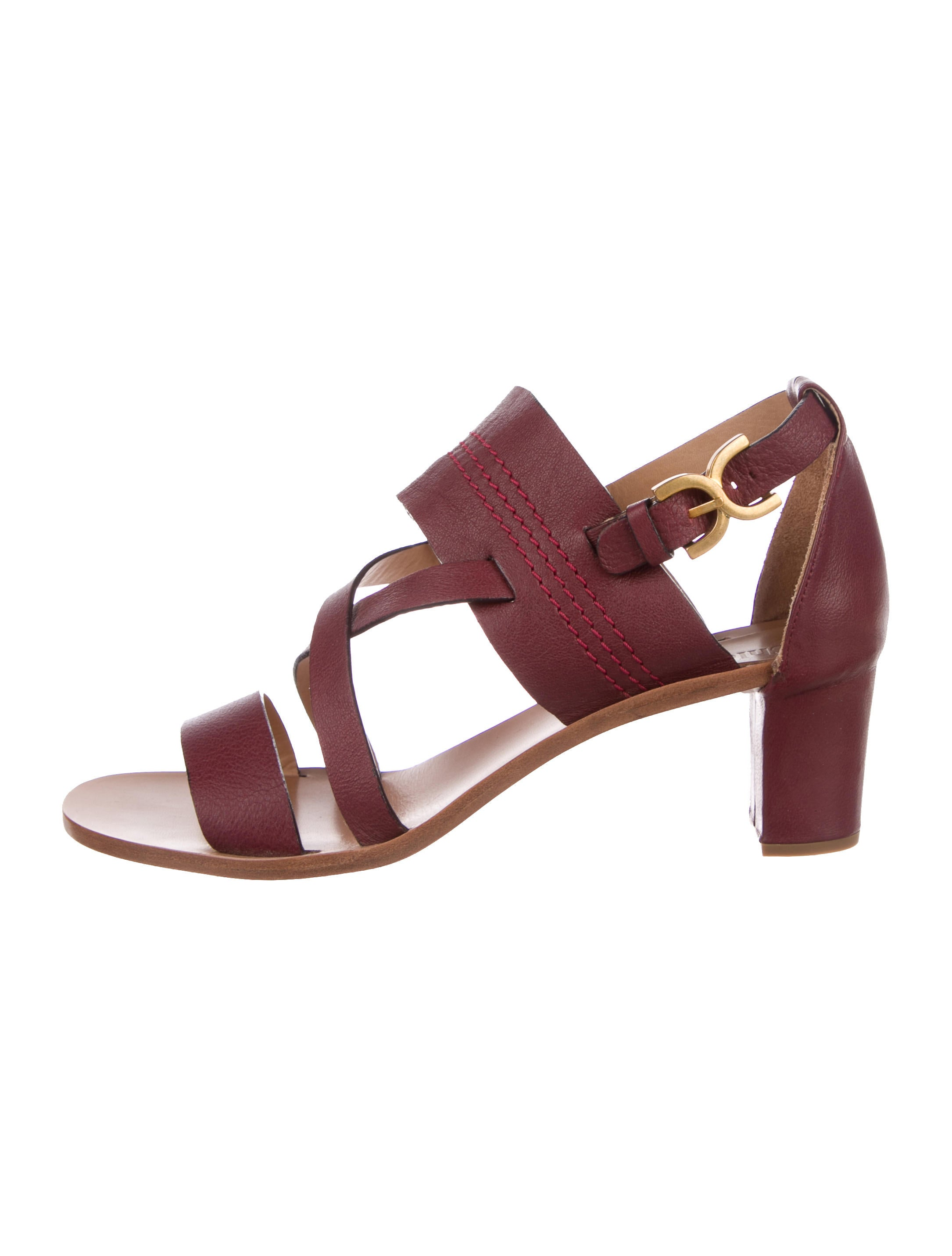 Chloé Multistrap Leather Sandals free shipping pictures sale the cheapest prices cheap price excellent online outlet store cheap online dzj8J4S