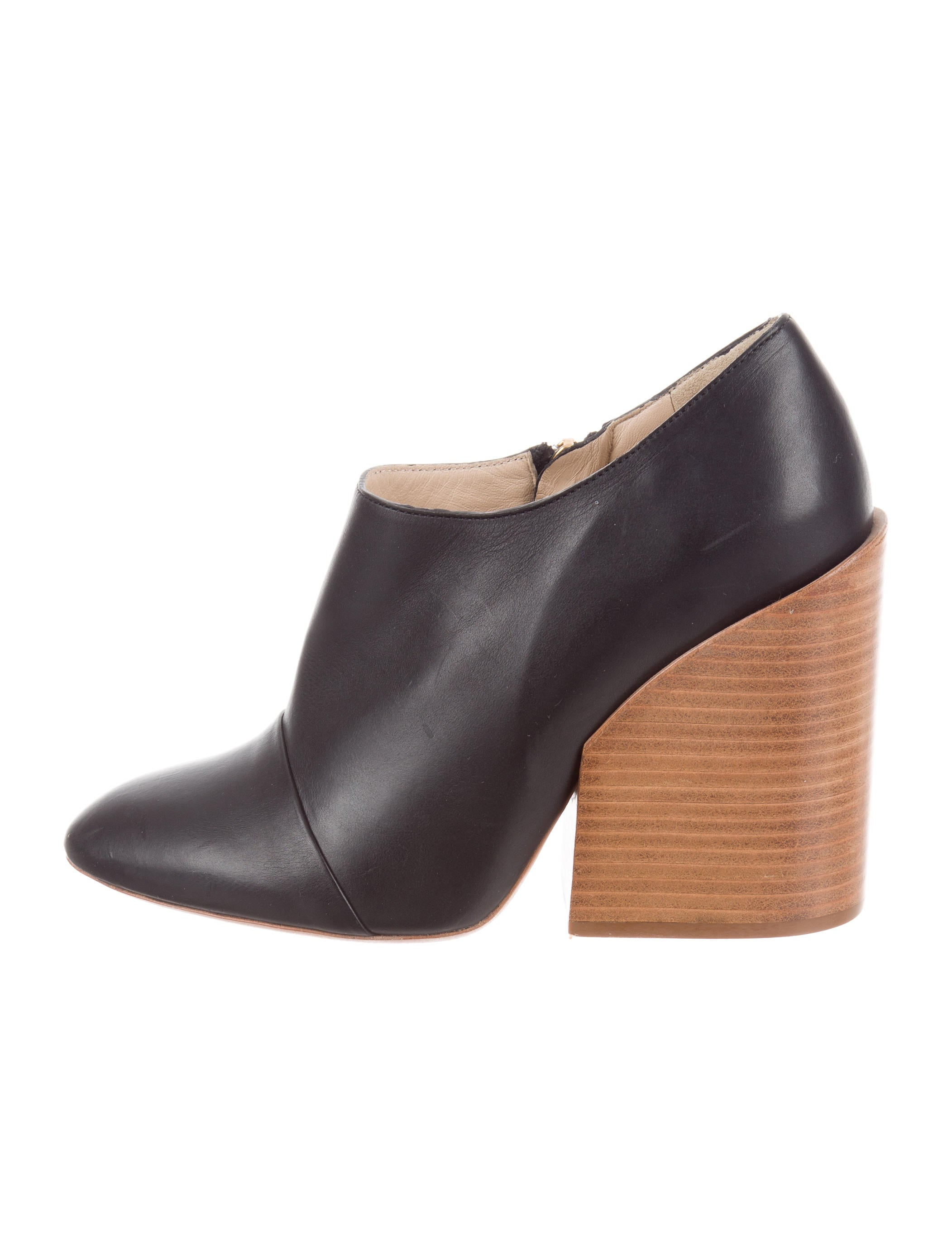 Chloé Stabio Leather Booties cheap really discount top quality footlocker sale online sale 2015 oXo1Je0