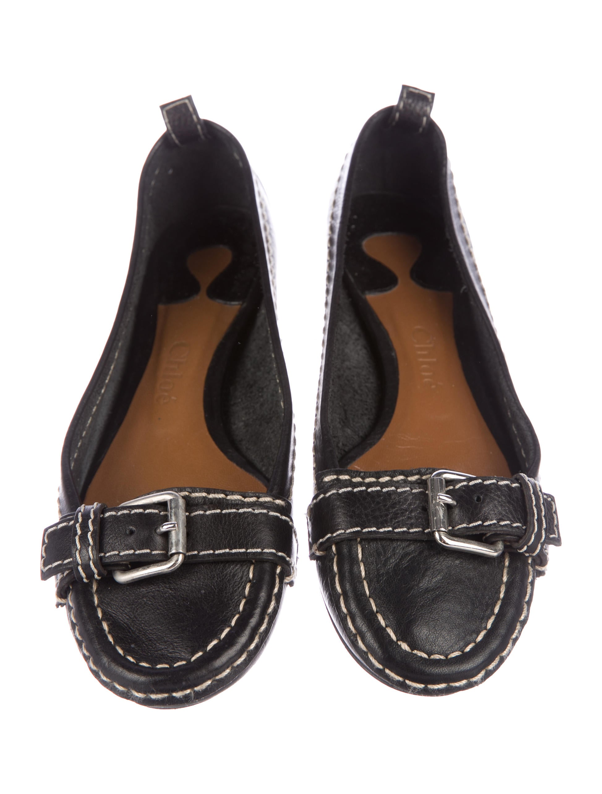Chloé Leather Buckle-Accented Flats sale pick a best cheap for nice sale genuine looking for for sale free shipping pick a best kt7v7hkIgB