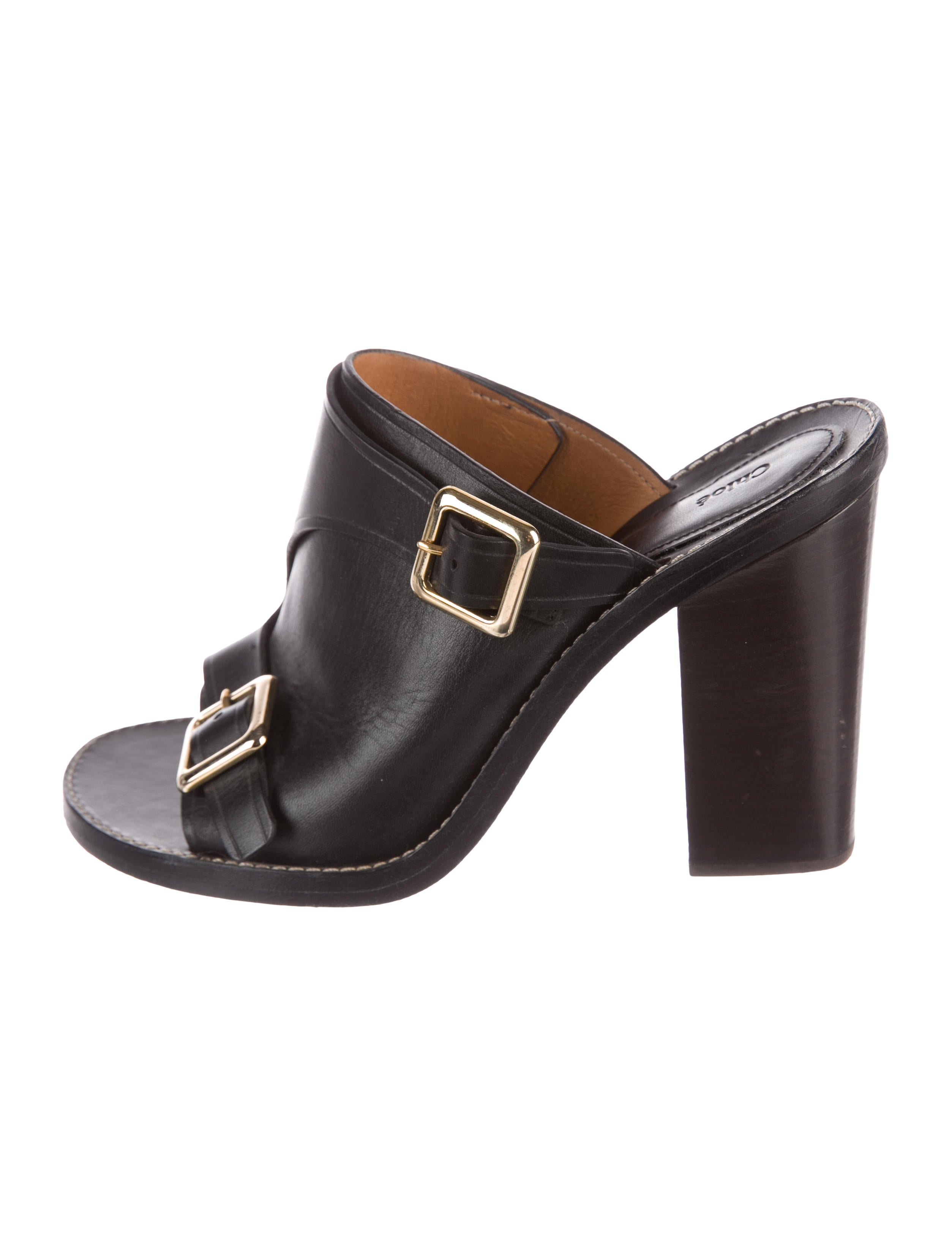 high quality sale online Chloé Leather Buckle-Accented Mules footlocker pictures online cheap sale the cheapest perfect online buy cheap professional JZOy5QHuu7
