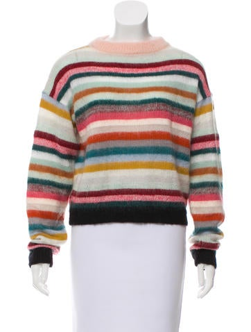 Chloé Striped Crew Neck Sweater None