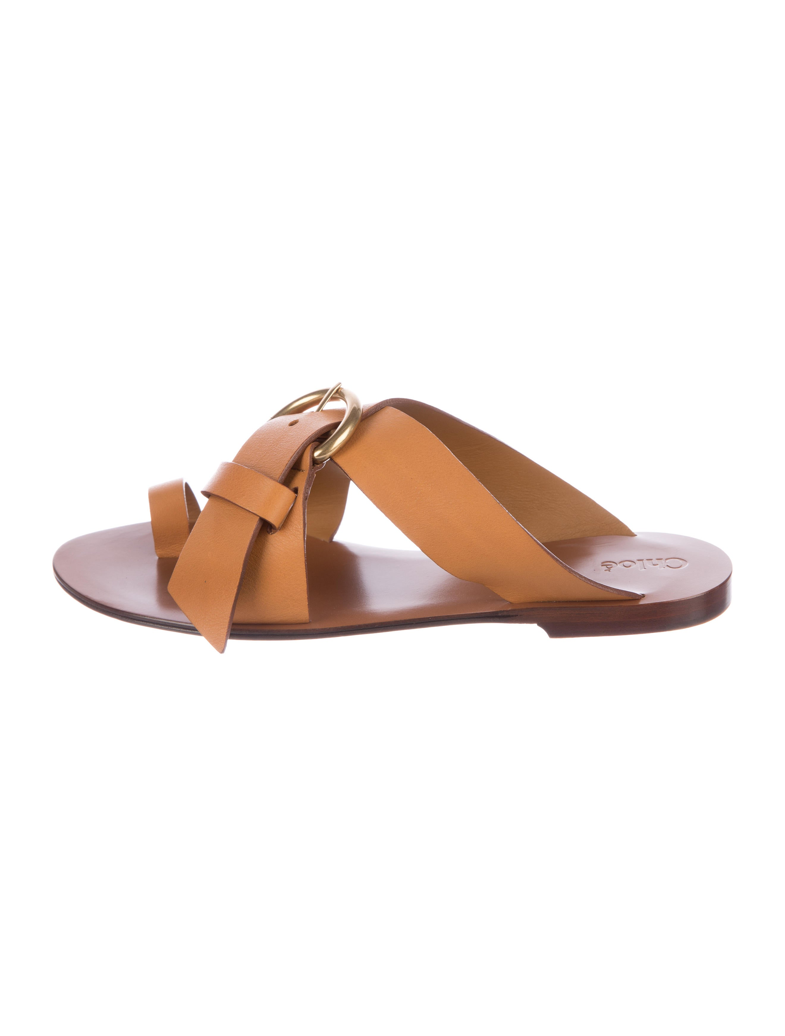 Chloé Leather Crossover Sandals buy cheap shop clearance low shipping low shipping fee cheap price cheap sale get to buy GfXeRAI2