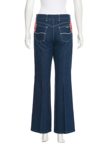 Embroidered Mid-Rise Jeans
