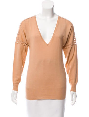 Chloé Wool V-Neck Sweater None