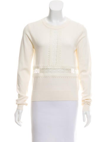 Chloé Wool Eyelet Sweater None