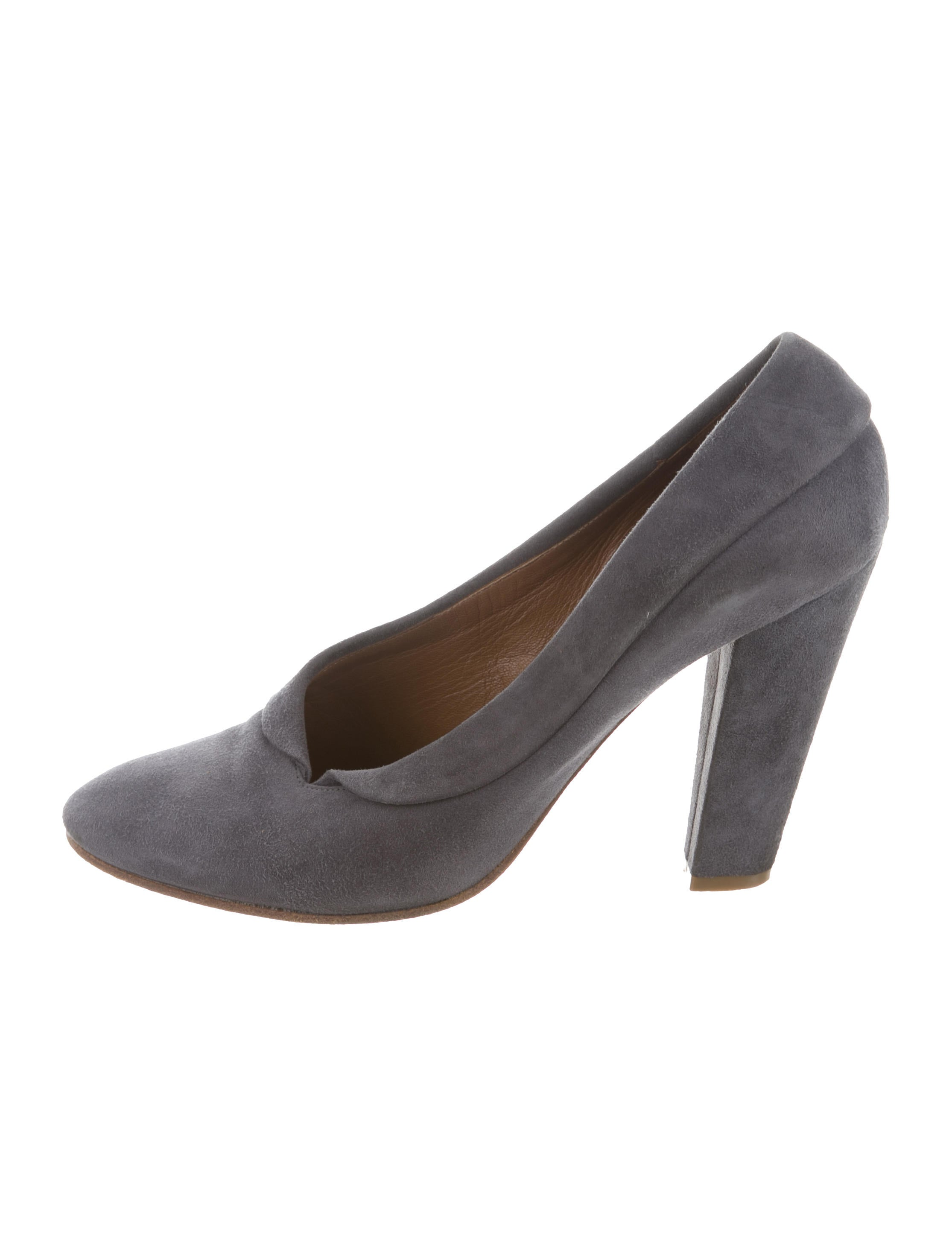 fast delivery sale online Chloé Suede Round-Toe Pumps wiki discount original cheap Manchester 8HFLv