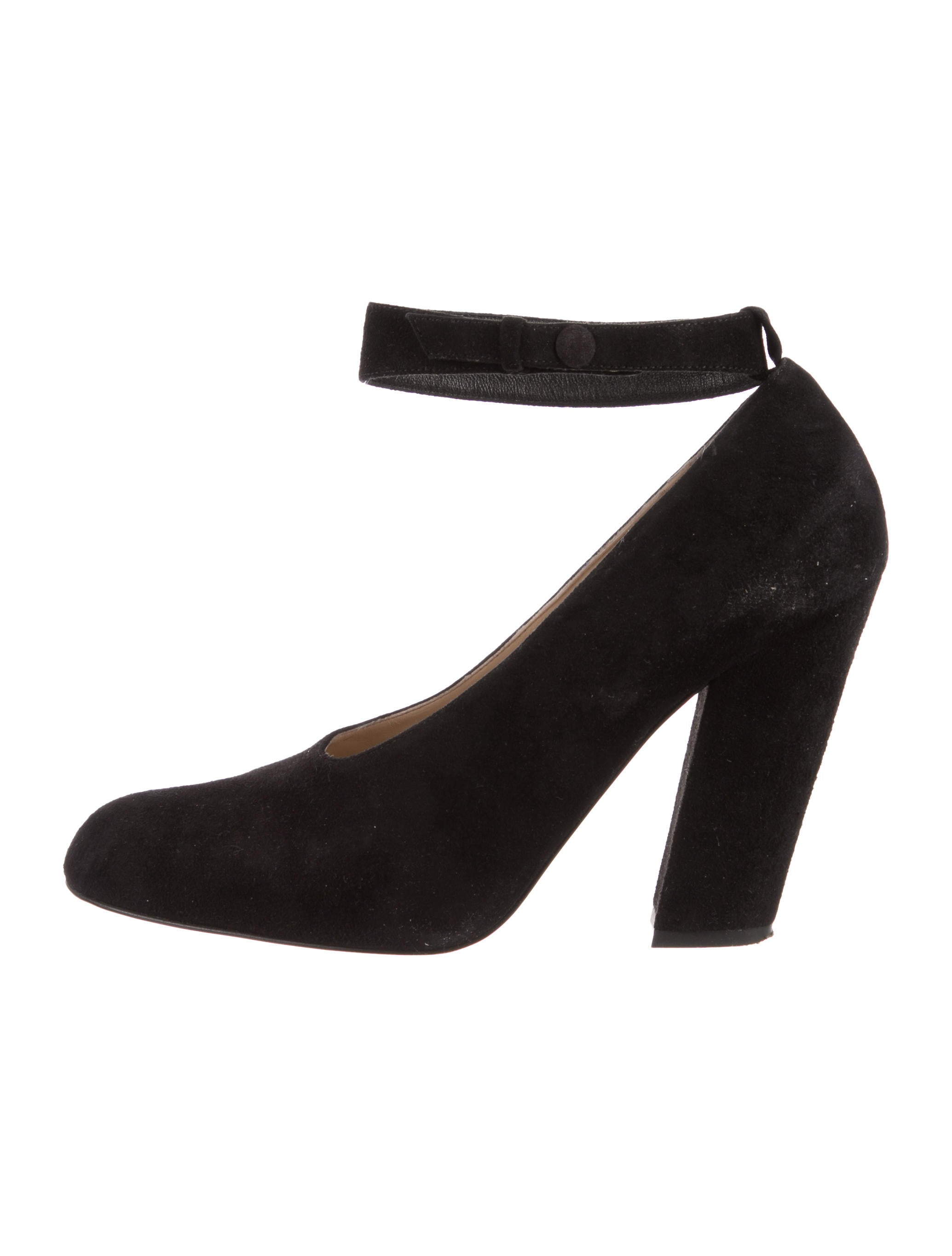 Chloé Suede Semi Pointed-Toe Pumps free shipping very cheap sLAklpXcFj