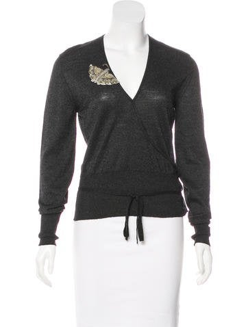 Chloé Embellished Wool Top None
