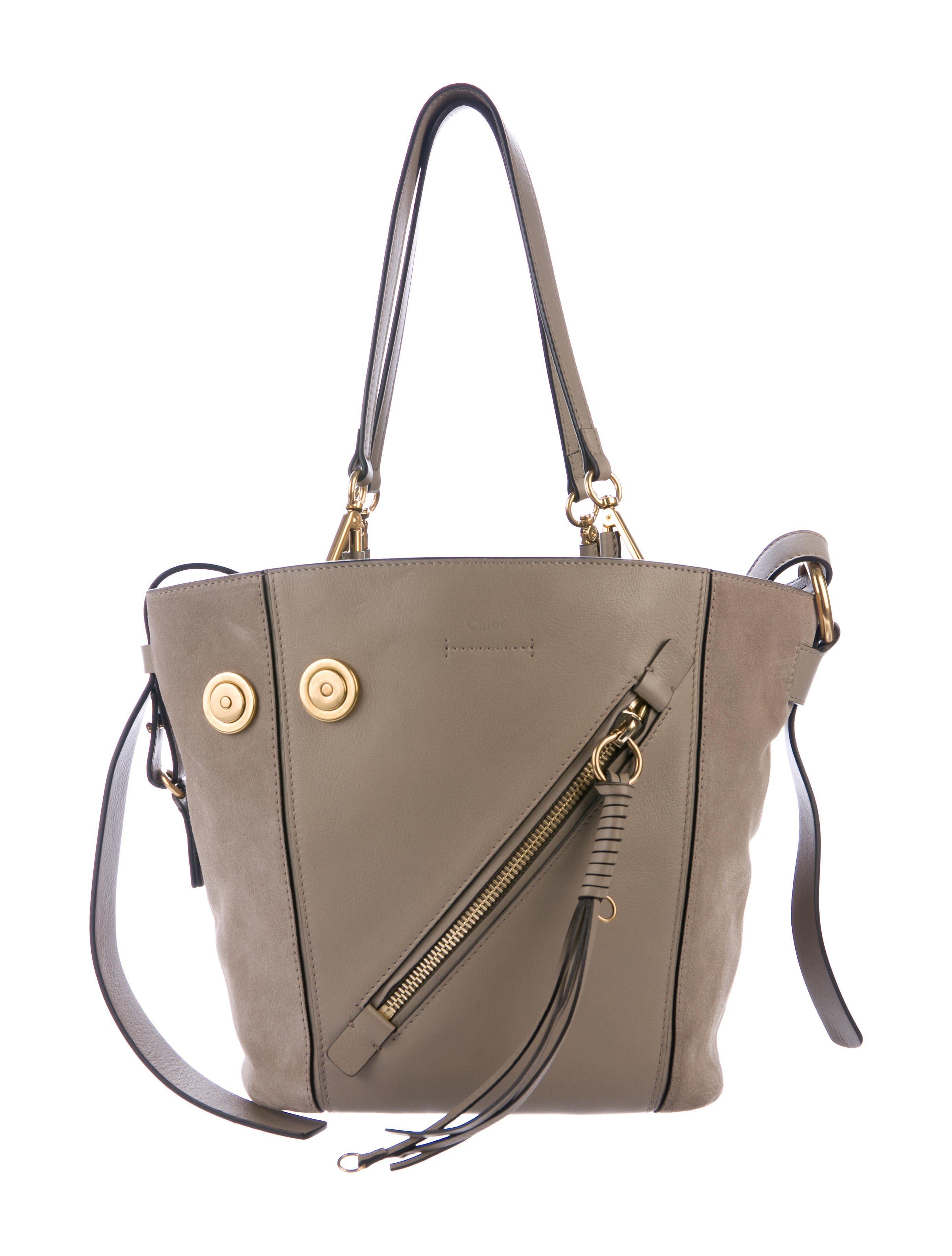 Medium Myer Leather Suede Tote