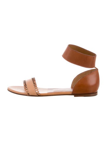 discount wholesale Chloé Leather Ankle Strap Sandals w/ Tags free shipping pay with paypal buy cheap outlet locations visit new online discount largest supplier LV73yXrii