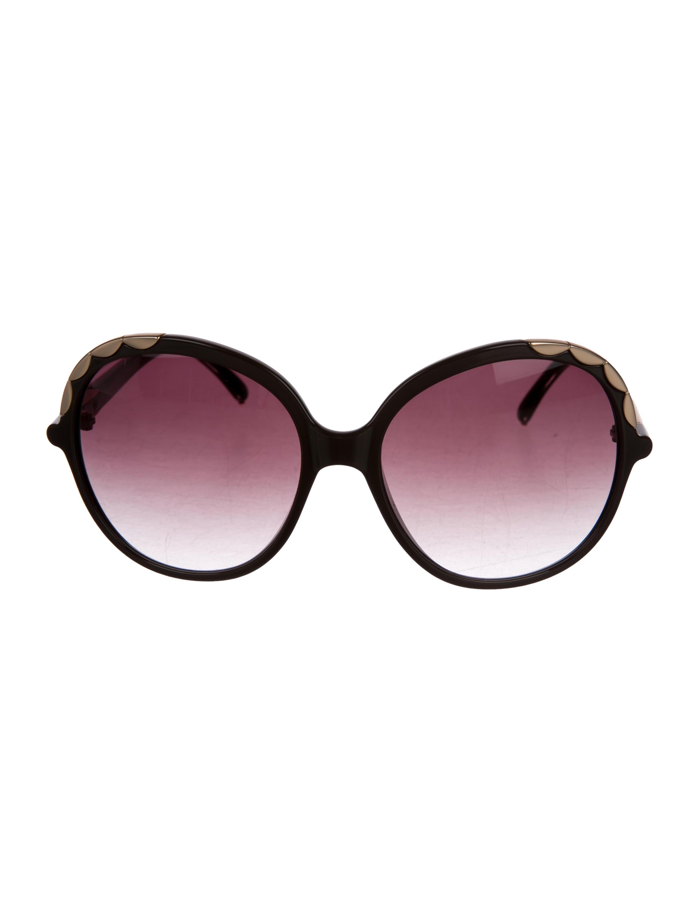 72e61898ea2 Chloé Scalloped Oversize Sunglasses - Accessories - CHL78447