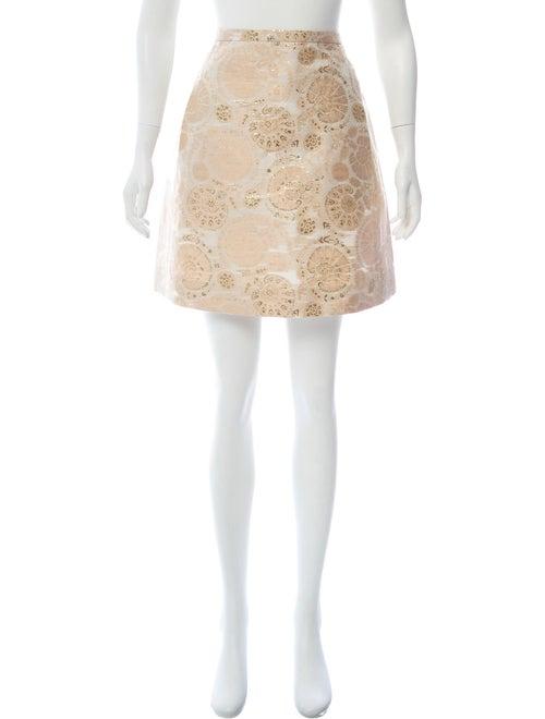 Chloé Silk Brocade Mini Skirt Pink