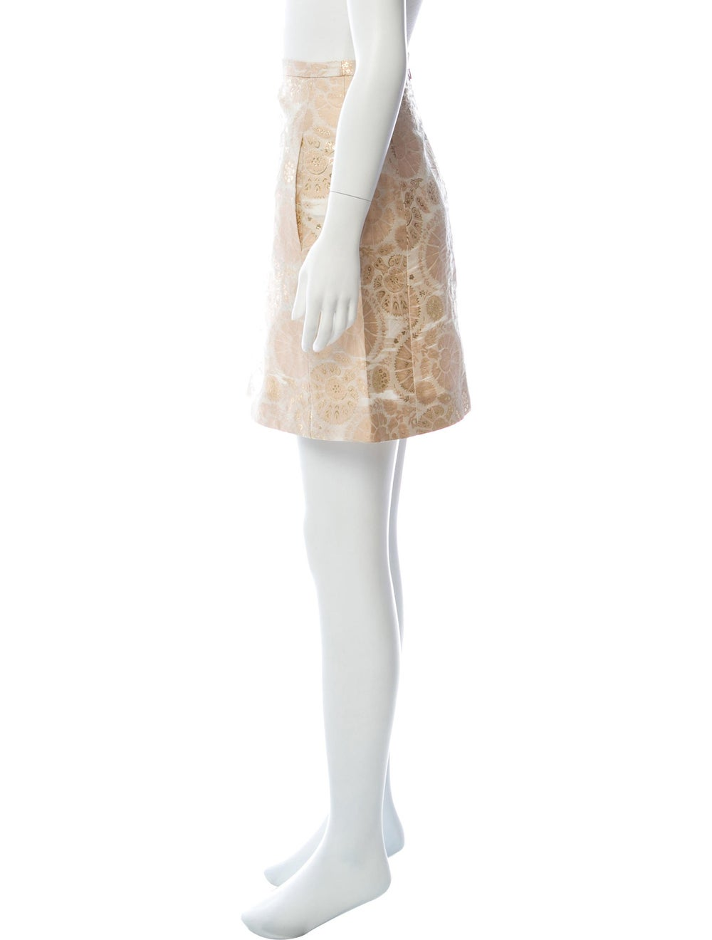 Chloé Silk Brocade Mini Skirt Pink - image 2