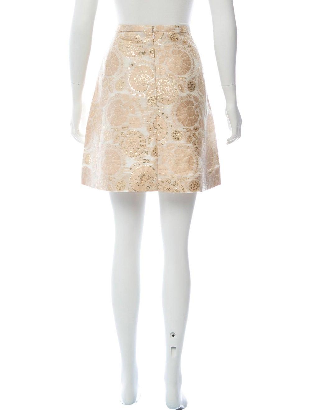 Chloé Silk Brocade Mini Skirt Pink - image 3