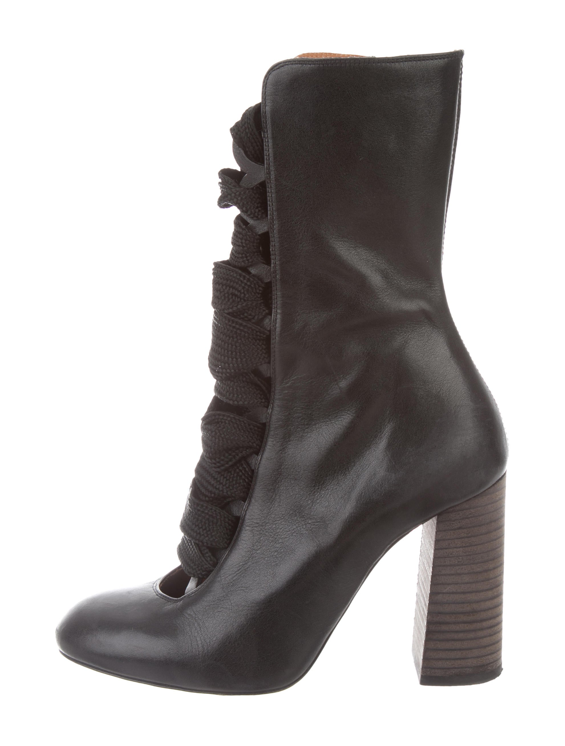 Leather Lace Up Boots by Chloé